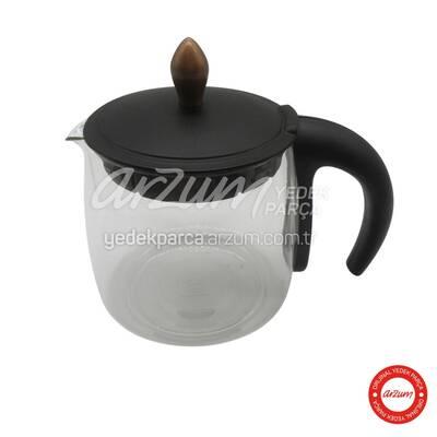 Çaycı Klasik Cam Demlik Grubu - Siyah